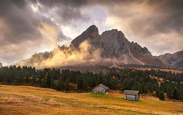 Ochtendbeeld in de Dolomieten, Italië van Adelheid Smitt