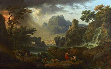 Eine Berglandschaft mit nahendem Sturm, Claude-Joseph Vernet