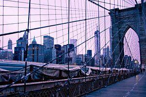 Brooklyn Bridge, New York van Marije van der Werf