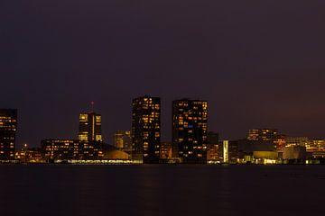 Almere bij nacht von Marko de Jong
