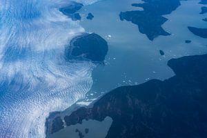 De geboorte van een gletsjerrivier van