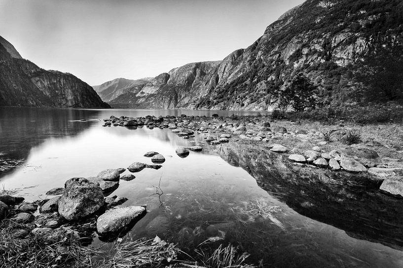 Meer bij Eidfjord van Frank Hoogeboom