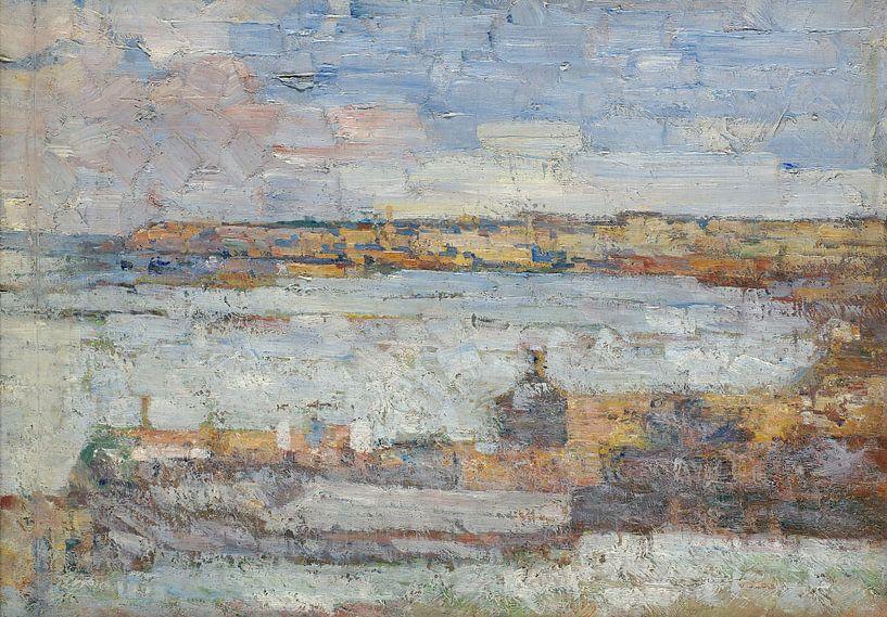 Kosta Miličević Blick auf Belgrad von finemasterpiece
