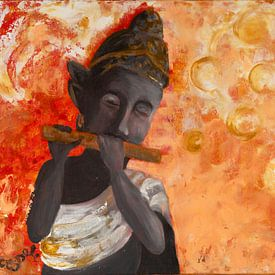 Flötenspieler von Carmen Eisele