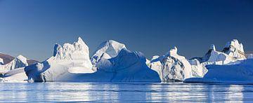 Eisberge in Rode O, Scoresby Sund, Grönland von Henk Meijer Photography