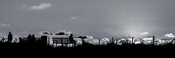 Am Strand von Noordwijk aan Zee von HvNunenfoto