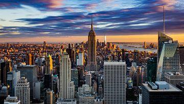 Coucher de soleil sur Manhattan, New York sur Kimberly Lans
