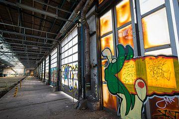 Verlassene Urbex-Fabrik, Stadterkundung mit Graffiti von Ger Beekes