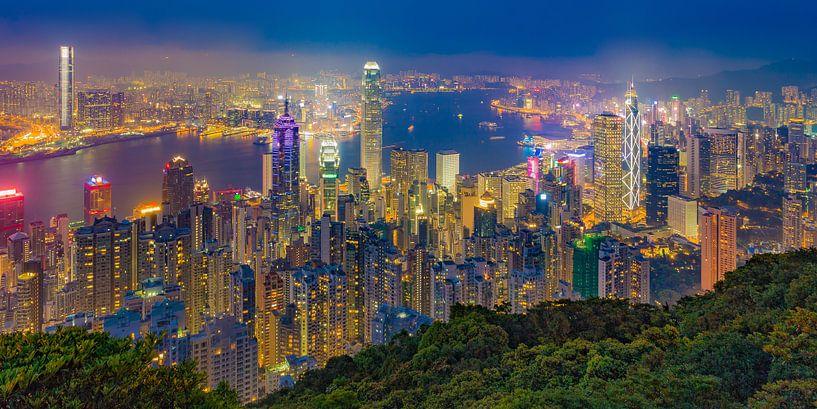 Hong Kong by Night - Victoria Peak - 3 van Tux Photography