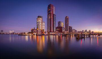 Panorama Kop van Zuid vanaf Rijnhaven van Ronne Vinkx