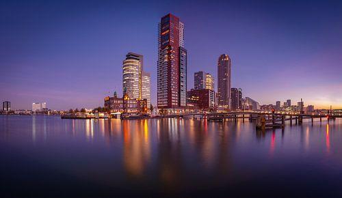 Panorama Kop van Zuid vanaf Rijnhaven