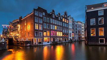 Avond aan de grachten in Amsterdam, Nederland van Adelheid Smitt