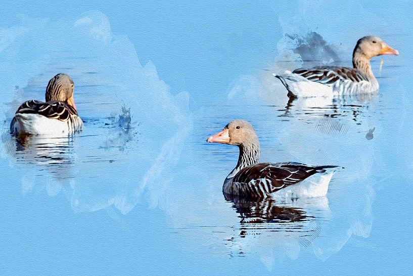 Kwik, Kwek & Kwak ........... van Art by Jeronimo
