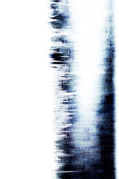 Digitaal Abstract, Blauw water 2 van Henriëtte Mosselman