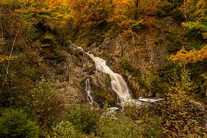 Bayehon waterval in de herfst van