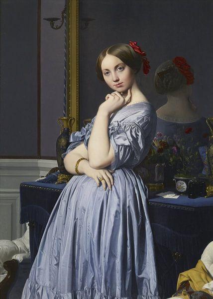 Jean-Auguste-Dominique Ingres - Comtesse d'Haussonville van 1000 Schilderijen
