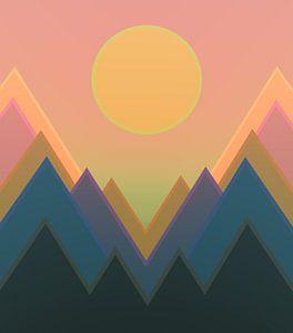Coucher de soleil dans les montagnes 11