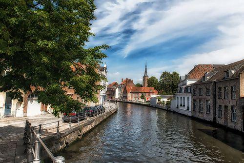 Stad Brugge Groenerei brug Hoogstraat van