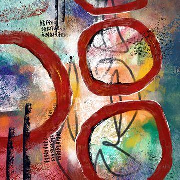 Rote Kreise von Lida Bruinen