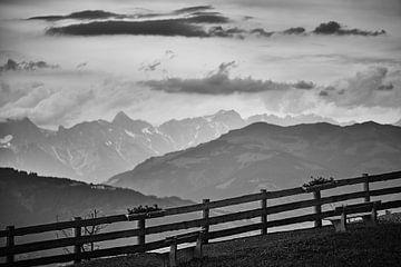 Blick auf die Alpen von Bart Rondeel