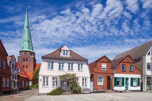 Alte Hausfassade in der Altstadt , Luebeck-Travemuende, Schleswig-Holstein, Deutschland, Europa