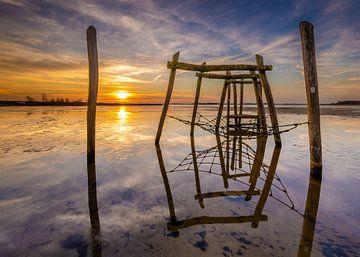 Zonsopkomst strand Midwolda. van Arjan Battjes