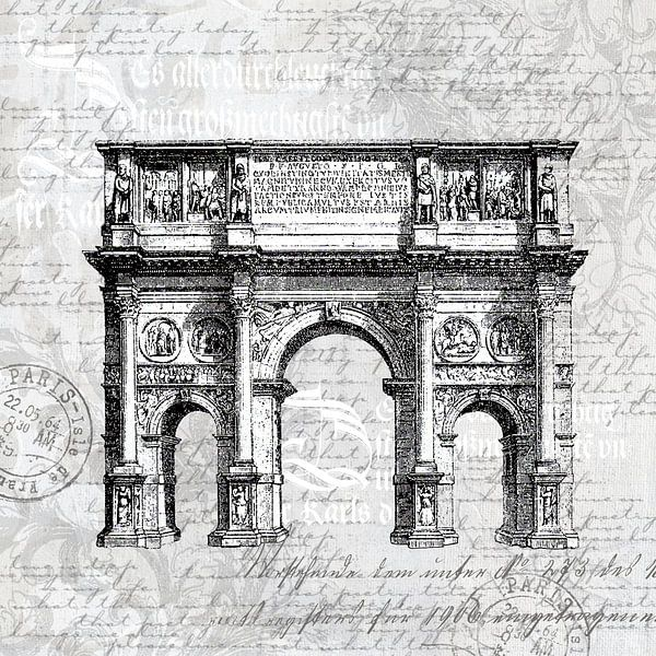 Barock Romantik In Grau von Andrea Haase