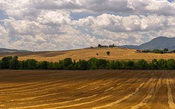 Boerderij op de heuvel - Toscane - Italie van Jeroen(JAC) de Jong