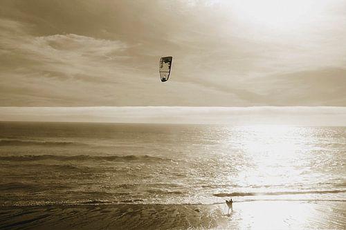 kite surfer Highway one Californie van Petra Vermunt