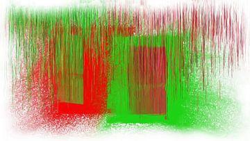 Abstract rood groen van Maurice Dawson