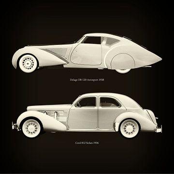 Delage D8-120 Aerosport 1938 en Cord 812 Sedan 1936