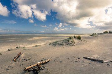 Ameland noordzeestrand van Ron van Ewijk