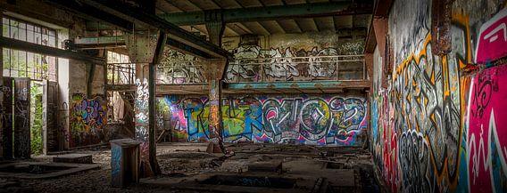 Graffiti in een oude kolenmijn