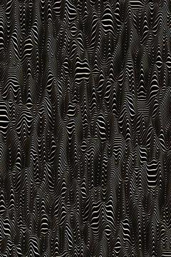 Valley Lines black and golden van Jörg Hausmann