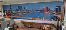 Photo de nos clients: Le Willemsbrug à Rotterdam avec un nouvel éclairage sur MS Fotografie | Marc van der Stelt, sur fond d'écran