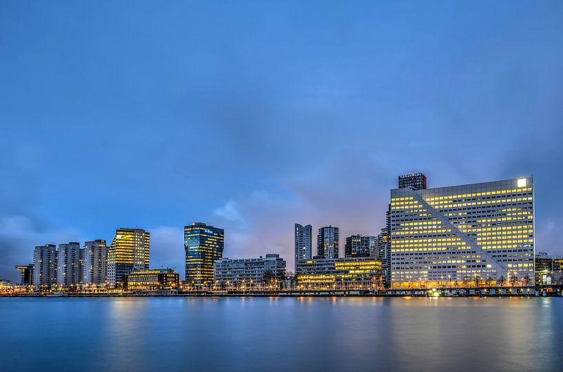 Rotterdam: de Boompjes en de Nieuwe Maas van Frans Blok