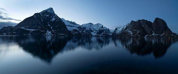 Blue hour, Nusfjord Lofoten Norway near Hamnøy