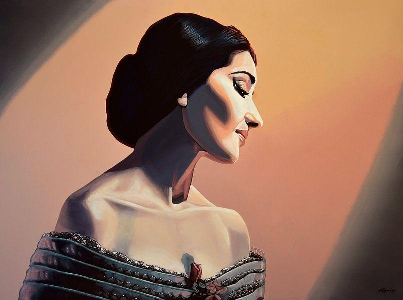Maria Callas schilderij