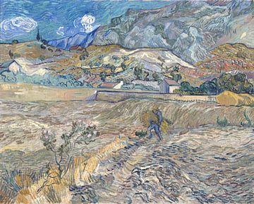 Geschlossenes Feld mit Bauer (auch bekannt als Landschaft in Saint-Remy), Vincent van Gogh