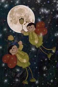 Flug zum Mond von Christine Nöhmeier