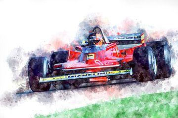 Gilles Villeneuve, Ferrari nr. 12 van Theodor Decker