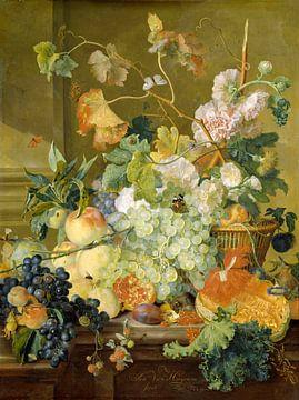 Nature morte aux fruits et aux fleurs, Jan van Huijsum