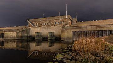 Watering en gemaal in Katwijk sur