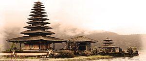 Uluwatu eiland tempel - Bali - Indonesië van Yvon van der Wijk