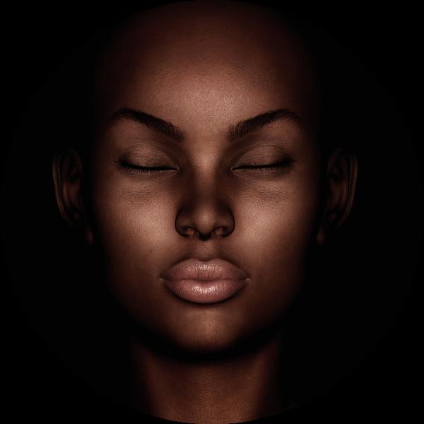 Portret van een dromende vrouw van Jan Keteleer