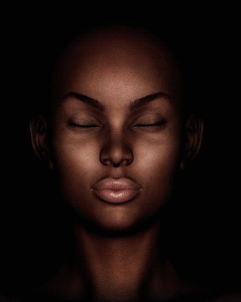 Porträt einer träumenden Frau von Jan Keteleer