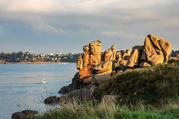Atlantikküste in der Bretagne bei Ploumanach, Frankreich von Rico Ködder