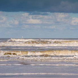 Noordzee Schiermonnikoog van Margreet Frowijn