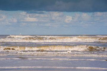 Golven Noordzee Schiermonnikoog van