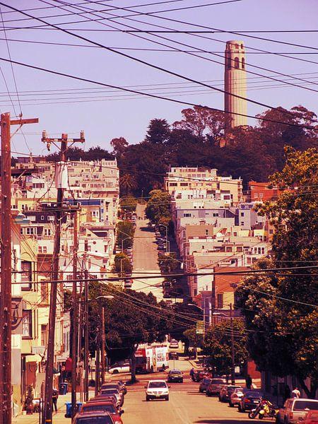 San Francisco met de Coit Tower van Mr and Mrs Quirynen